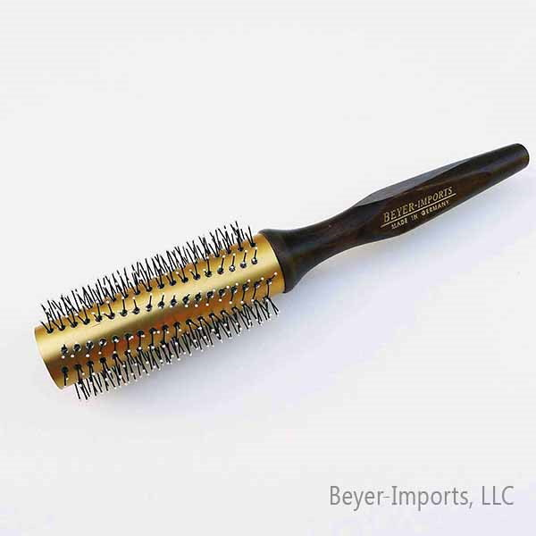 Gold-Plated Metal Tube Styling Brush, medium w/ Nylon Bristles #110-GM