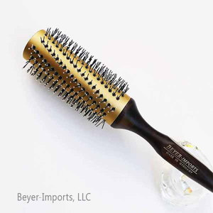 Gold-Plated Metal Tube Styling Brush, large w/ anti-static Nylon Bristles #120-GL