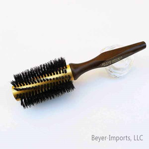 Gold-Plated Metal Tube Styling Brush w/ Pure Boar Bristles #300-G-boar